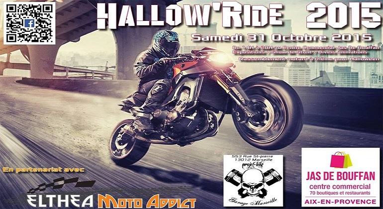 Hallow'Ride 2015 aur Aix en Provence avec Adept' Moto